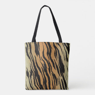 Tiger Fur Print Tote bag