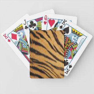 Tiger Fur Stripes Poker Deck