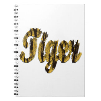 Tiger - Furry Text Note Books
