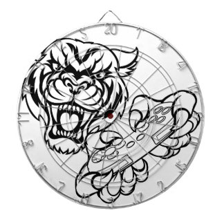 Tiger Gamer Mascot Dartboard