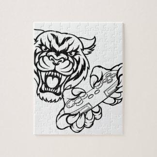 Tiger Gamer Mascot Jigsaw Puzzle