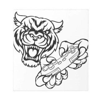 Tiger Gamer Mascot Notepad