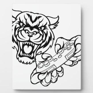 Tiger Gamer Mascot Plaque