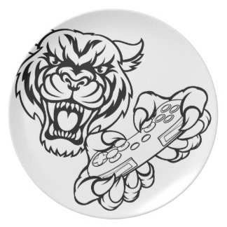 Tiger Gamer Mascot Plate