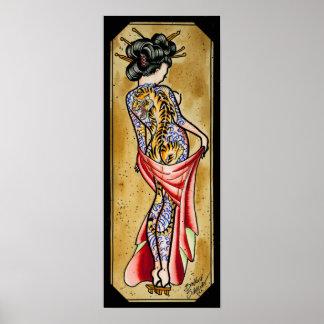 Tiger Geisha Poster