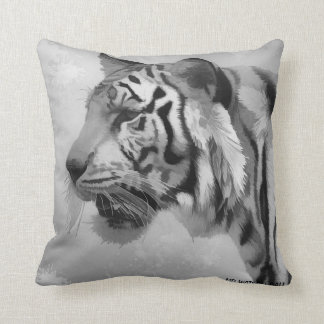 Tiger - Ghostly 2 Throw Pillow
