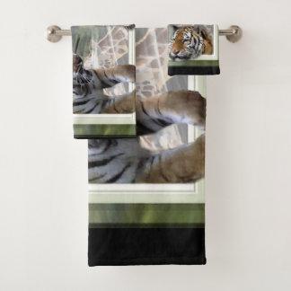 Tiger Giraffe Zebra Lovers Bath Towel Set