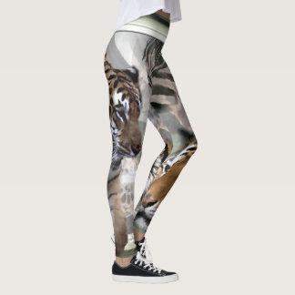Tiger Giraffe Zebra Print Leggings