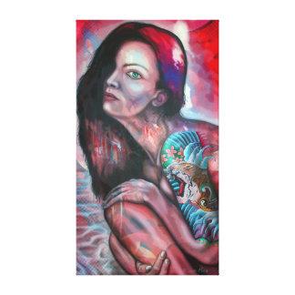 Tiger Girl Canvas Print
