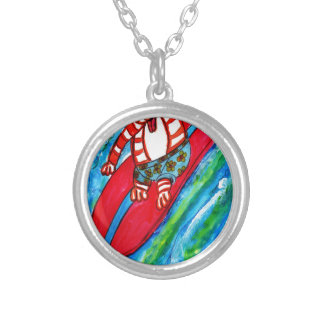 Tiger Hang Ten Silver Plated Necklace