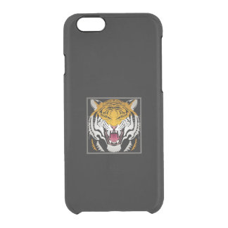 Tiger Head Clear iPhone 6/6S Case