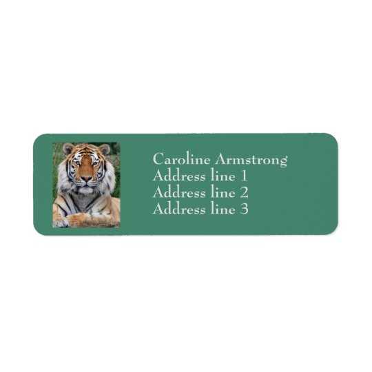 Tiger head custom return address labels