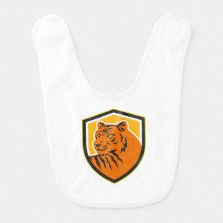 Tiger Head Front Crest Retro Bib