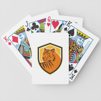 Tiger Head Front Crest Retro Bicycle Playing Cards