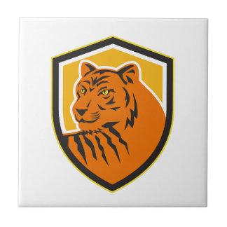 Tiger Head Front Crest Retro Tiles