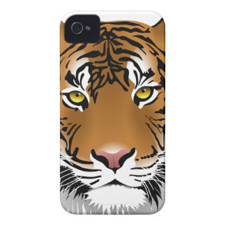 Tiger Head Print Design iPhone 4 Covers