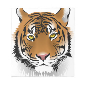 Tiger Head Print Design Notepads