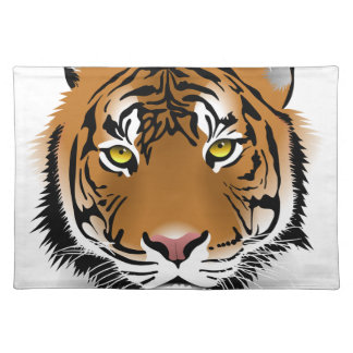 Tiger Head Print Design Placemat