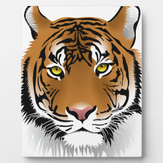 Tiger Head Print Design Plaque