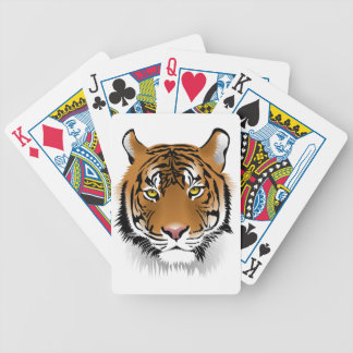 Tiger Head Print Design Poker Deck