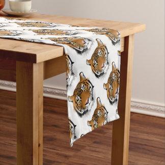 Tiger Head Print Design Short Table Runner