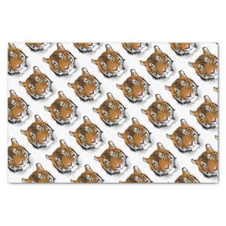Tiger Head Print Design Tissue Paper