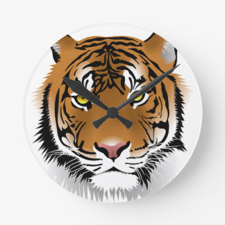 Tiger Head Print Design Wall Clock