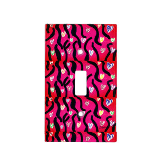Tiger heart light switch cover