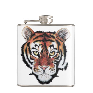 Tiger hip flask