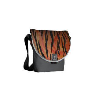 Tiger Hot orange and Black Print Courier Bag