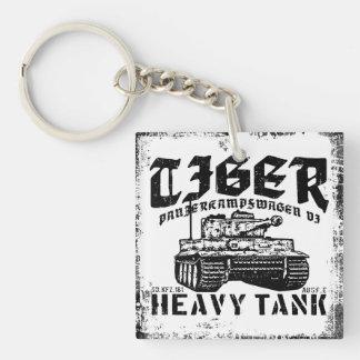 Tiger I Acrylic Keychain Double-Sided Square Acrylic Keychain