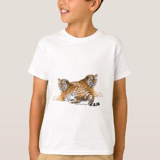 Tiger image for Kids'-T-Shirt-White T-Shirt