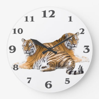 Tiger image for Round-Large-Wall-Clock Wall Clock