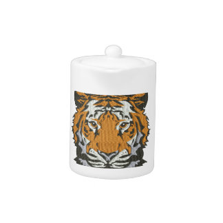 tiger imitation of embroidery