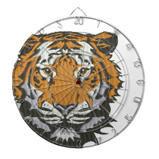 tiger imitation of embroidery dartboard
