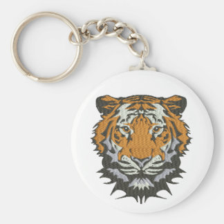 tiger imitation of embroidery keychain