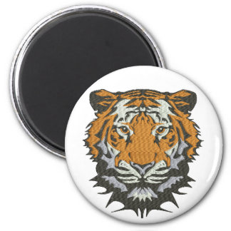 tiger imitation of embroidery magnet