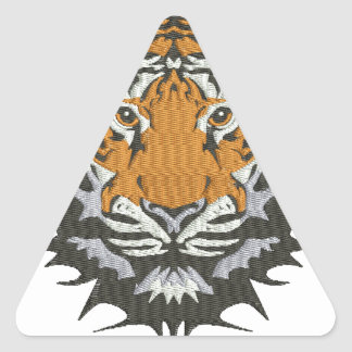 tiger imitation of embroidery triangle sticker