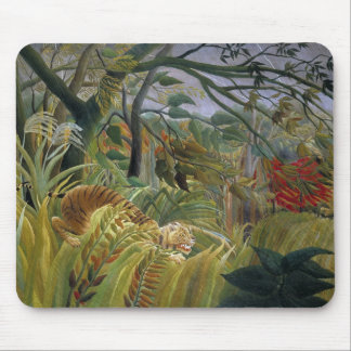 Tiger in a Tropical Storm by Henri Rousseau Mouse Pad