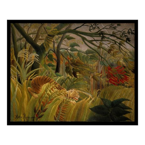 Tiger in a Tropical Storm- Henri Rousseau Posters