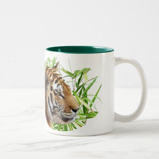 TIGER IN BAMBOO COFFEE MUG