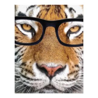 Tiger in glasses letterhead