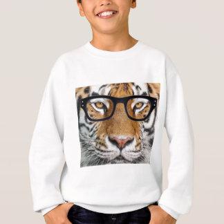 Tiger in glasses sweatshirt