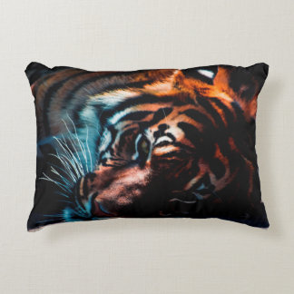 Tiger In Repose Pillow
