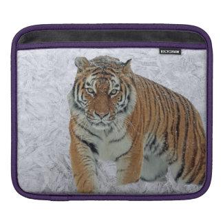 Tiger in snowflakes Ipad sleeve