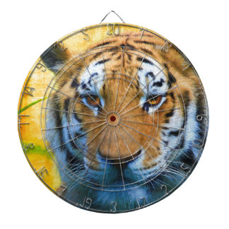 Tiger in the Bamboo - Painting Dartboard