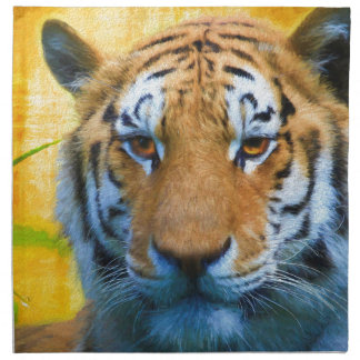 Tiger in the Bamboo - Painting Napkin