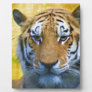 Tiger in the Bamboo - Painting Plaque