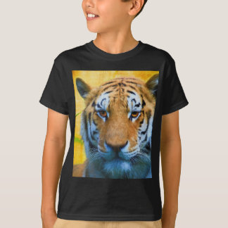 Tiger in the Bamboo - Painting T-Shirt