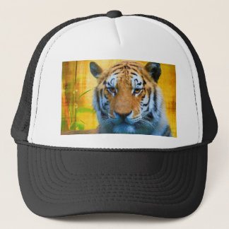Tiger in the Bamboo - Painting Trucker Hat
